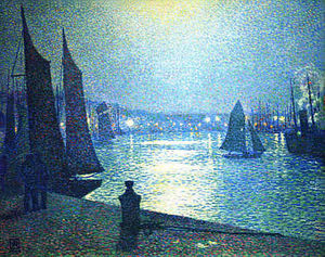 Theo Van Rysselberghe - Moonlight Night in Boulogne