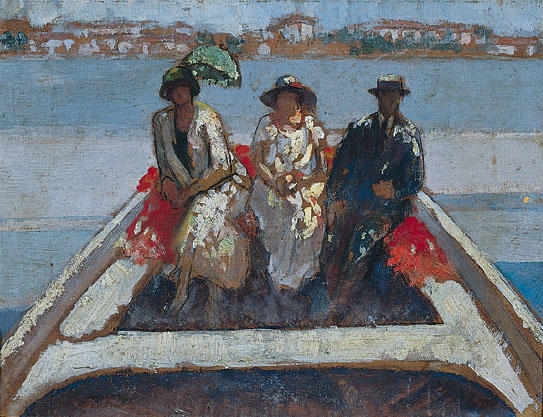 Boating by Theophrastos Triantafyllidis (1881-1955)