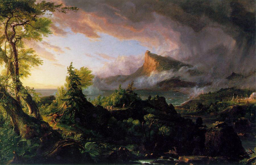 The Course of Empire, Oil On Canvas by Thomas Cole (1801-1848, United Kingdom)