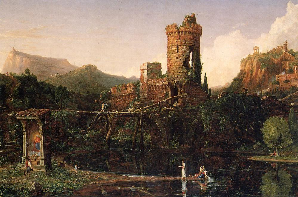 Landscape Composition Italian Scenery, Oil On Canvas by Thomas Cole (1801-1848, United Kingdom)