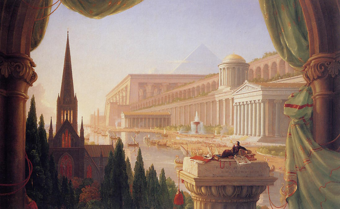 The dream of the architect, Oil On Canvas by Thomas Cole (1801-1848, United Kingdom)