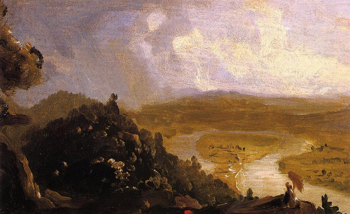 Sketch for The Oxbow, 1836 by Thomas Cole (1801-1848, United Kingdom)