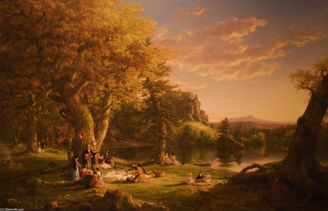 The Voyage of Life Childhood, Oil On Canvas by Thomas Cole (1801-1848, United Kingdom)