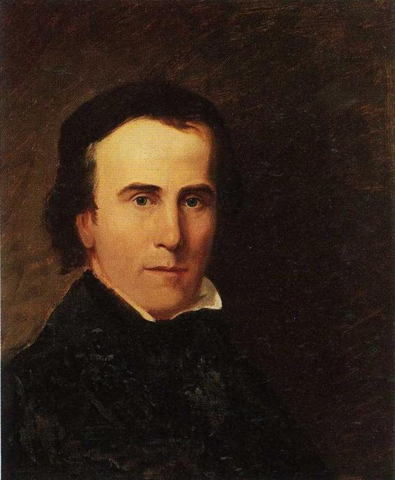Self-Portrait, Oil On Canvas by Thomas Cole (1801-1848, United Kingdom)