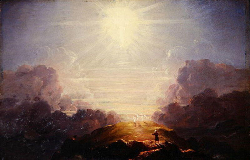Study for The Cross and the World, Oil On Panel by Thomas Cole (1801-1848, United Kingdom)