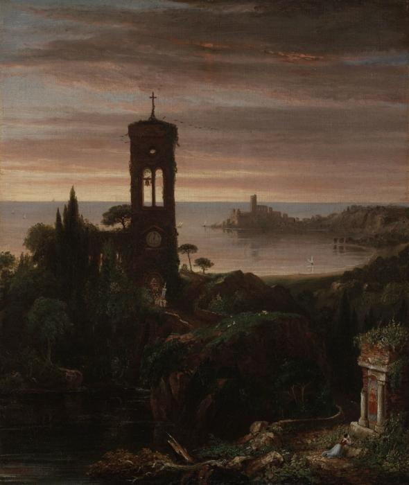 The Vesper Hymn, Oil On Canvas by Thomas Cole (1801-1848, United Kingdom)