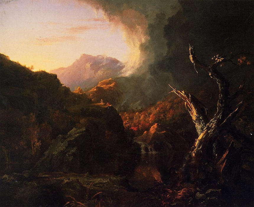 Landscape with Dead Tree, Oil On Canvas by Thomas Cole (1801-1848, United Kingdom)