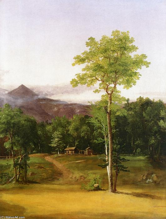 Cabin in the Woods, North Conway, New Hampshire, Oil On Canvas by Thomas Cole (1801-1848, United Kingdom)