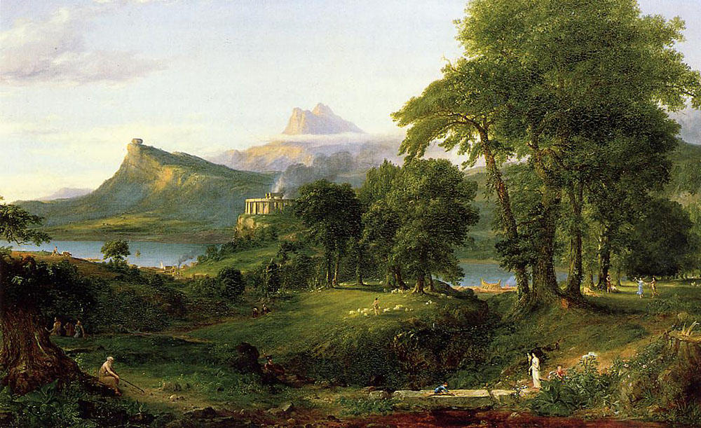 The Arcadian (Pastoral State), Oil On Canvas by Thomas Cole (1801-1848, United Kingdom)