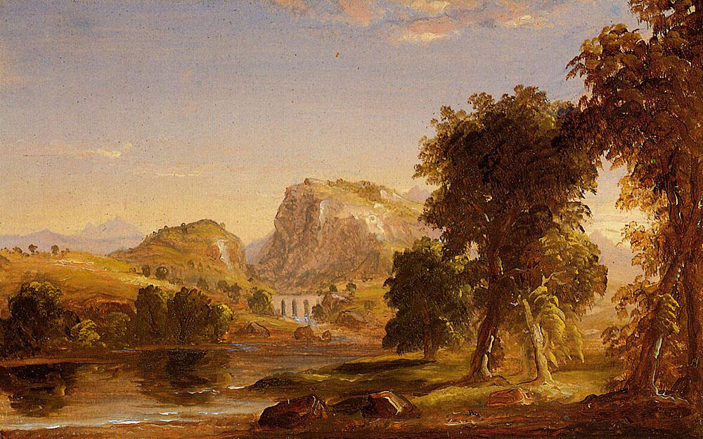 Sketch for ''Dream of Arcadia'', Oil On Canvas by Thomas Cole (1801-1848, United Kingdom)