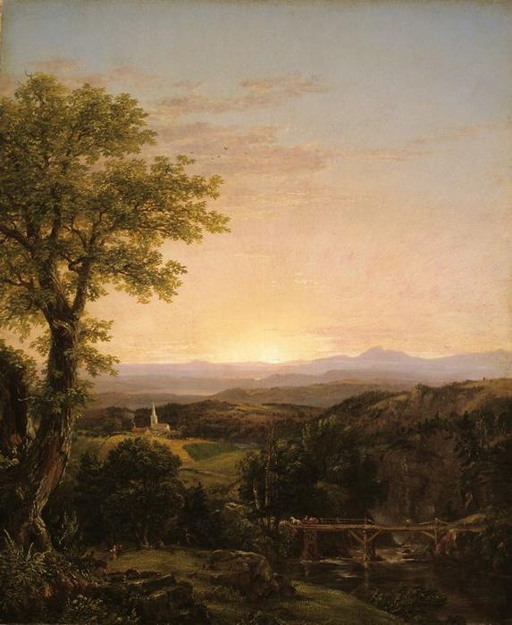 New England Scenery, 1839 by Thomas Cole (1801-1848, United Kingdom)