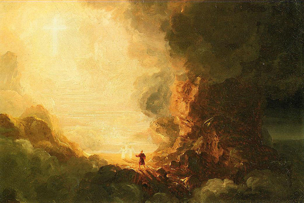 Study for The Pilgrim of the Cross at the End of His Journey, Oil On Canvas by Thomas Cole (1801-1848, United Kingdom)
