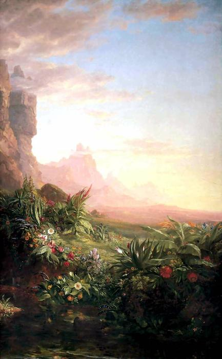 The Voyage of Life: Childhood (detail) by Thomas Cole (1801-1848, United Kingdom)