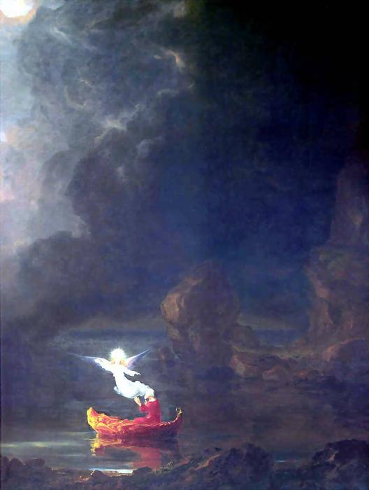 The Voyage of Life: Old Age (detail) by Thomas Cole (1801-1848, United Kingdom)