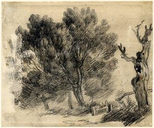 Thomas Gainsborough - Study of willows