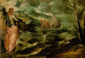 Tintoretto (Jacopo Comin) - Christ on the Sea of Galilee