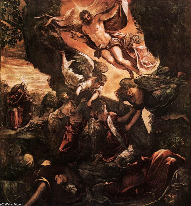Order Paintings Reproductions | The Resurrection of Christ, 1579 by Tintoretto (Jacopo Comin) (1518-1594, Italy) | ArtsDot.com
