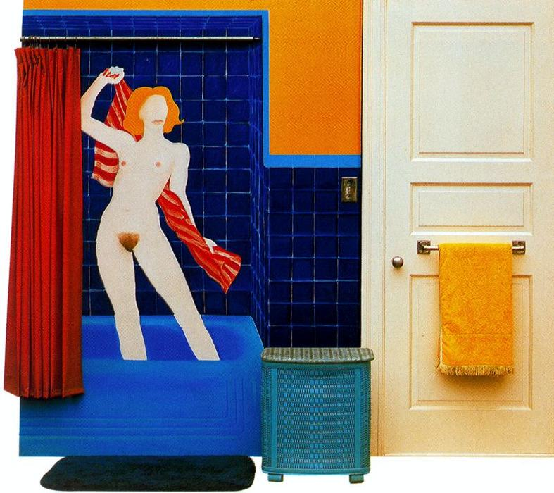 Collage with bather by Tom Wesselmann (1931-2004, Ohio)