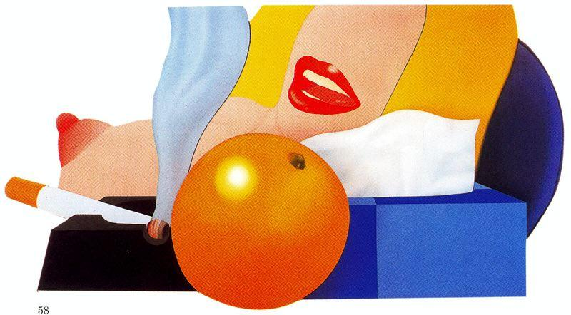 Great American Nude by Tom Wesselmann (1931-2004, United States)