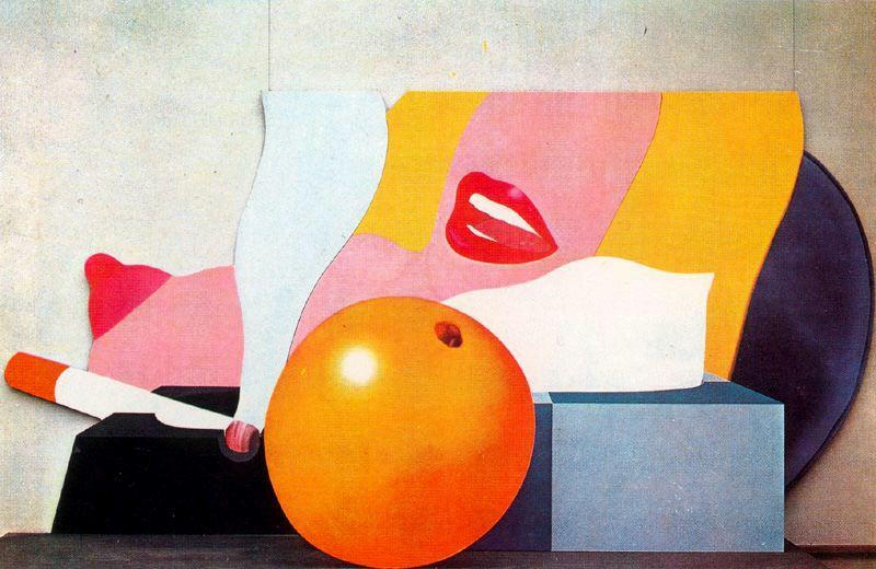 Great American Nude No.98 by Tom Wesselmann (1931-2004, United States)