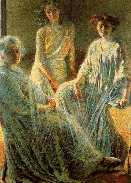 Three Women, 1910 by Umberto Boccioni (1882-1916, Italy) | Painting Copy | ArtsDot.com