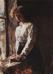 Valentin Alexandrovich Serov - By the Window. Portrait of Olga Trubnikova