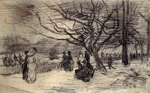 Vincent Van Gogh - Figures in a Park