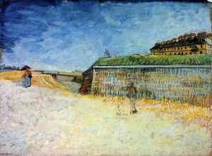 Vincent Van Gogh - Fortifications of Paris with Houses