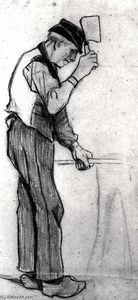 Vincent Van Gogh - Peasant with a Chopping Knife