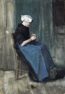 Vincent Van Gogh - Scheveningen Woman Knitting