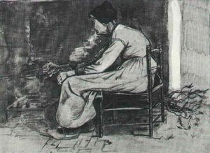 Vincent Van Gogh - Woman Sitting at the Fireside