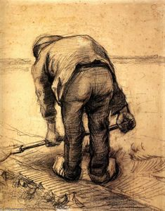 Vincent Van Gogh - Peasant Lifting Beet