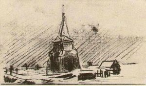 Vincent Van Gogh - The Old Tower in the Snow