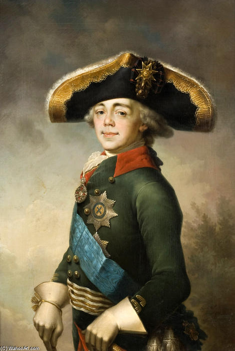 Portrait of Paul I, 1796 by Vladimir Lukich Borovikovsky (1757-1825) | Art Reproduction | ArtsDot.com