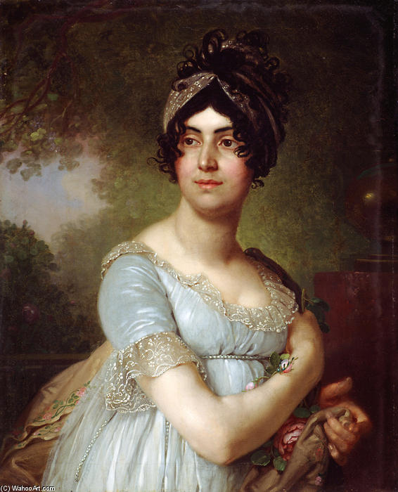Portrait of Daria Semyonovna Baratoff by Vladimir Lukich Borovikovsky (1757-1825) | Art Reproduction | ArtsDot.com