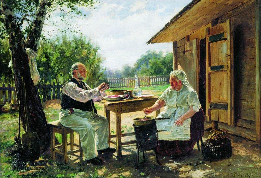 Making Jam, 1876 by Vladimir Yegorovich Makovsky (1846-1920, Russia) | Painting Copy | ArtsDot.com