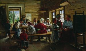 Vladimir Yegorovich Makovsky - At the village school