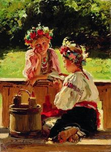 Vladimir Yegorovich Makovsky - Girls lightened by sun