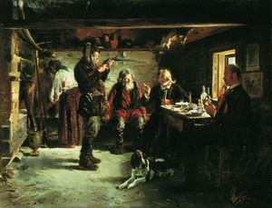 Vladimir Yegorovich Makovsky - In the hut of forester