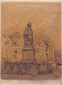 Walter Richard Sickert - Sketch for `The Statue of Duquesne, Dieppe-