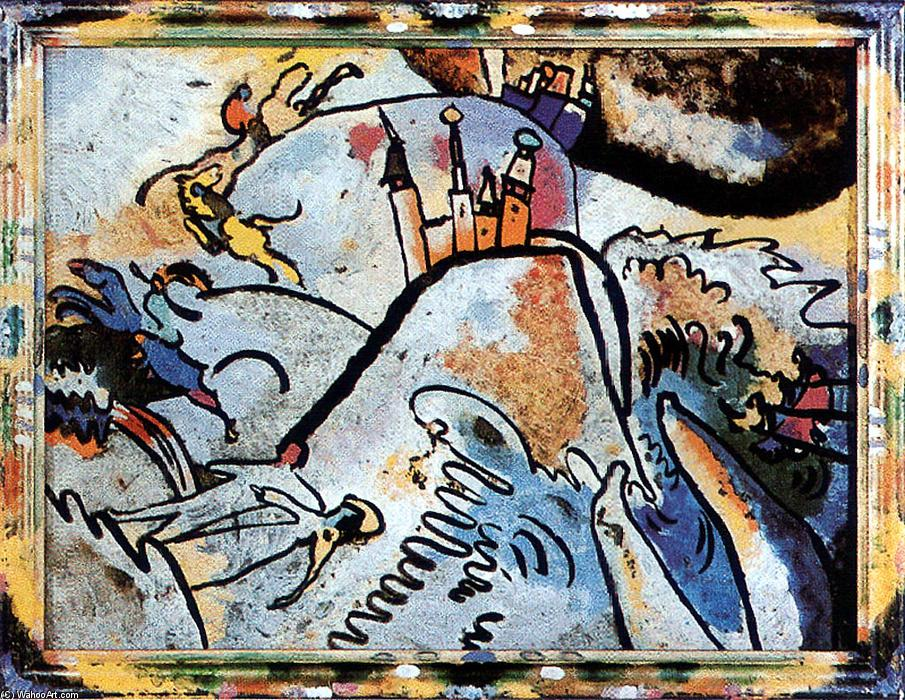 Glass Painting with the Sun (Small Pleasures), 1910 by Wassily Kandinsky (1866-1944, Russia) | Paintings Reproductions Wassily Kandinsky | ArtsDot.com