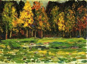 Wassily Kandinsky - Forest edge