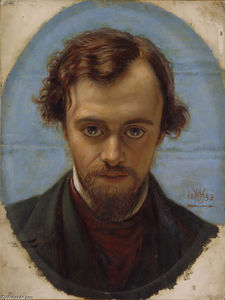 William Holman Hunt - Portrait of Dante Gabriel..