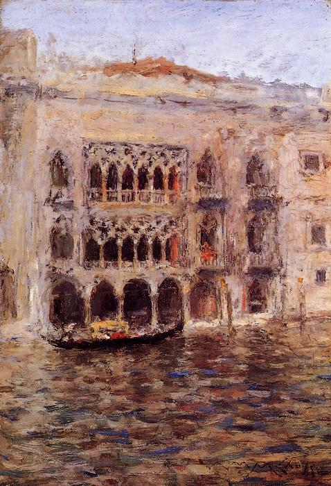 Order Painting Copy : Venice, 1877 by William Merritt Chase (1849-1916, United States) | ArtsDot.com