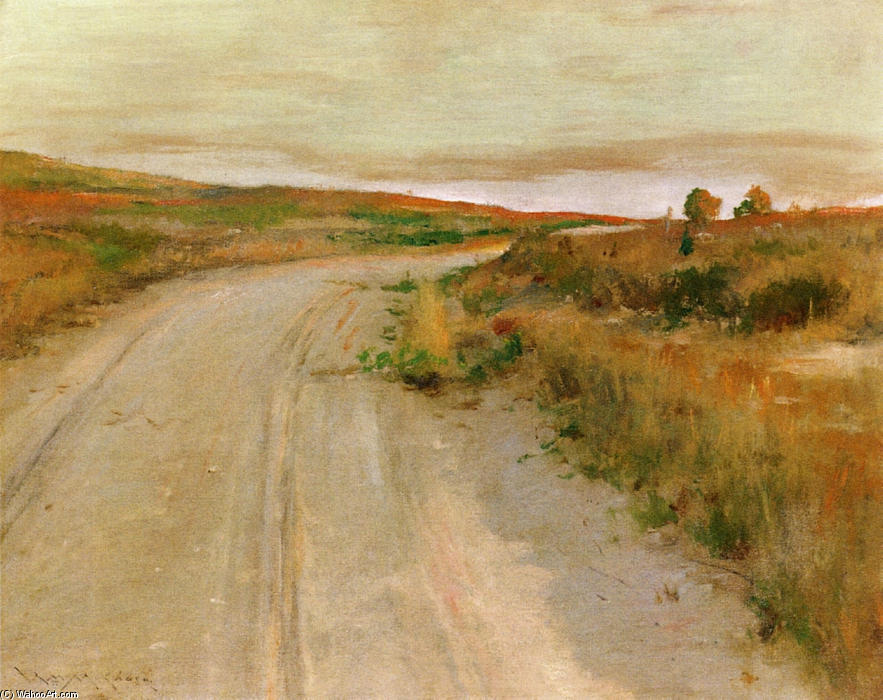 At Shinnecock Hills, Oil On Canvas by William Merritt Chase (1849-1916, United States)