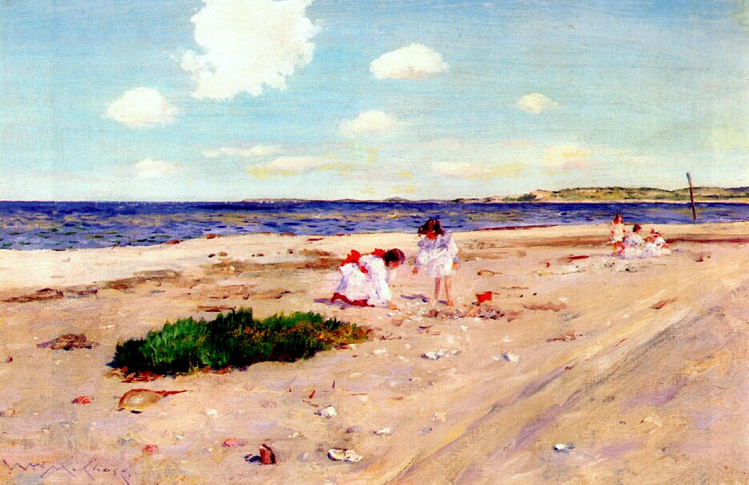 Shell Beach at Shinnecock, 1892 by William Merritt Chase (1849-1916, United States)