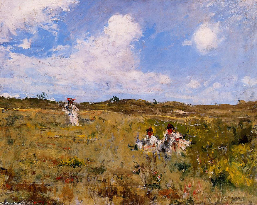 Shinnecock Landscape 03, Oil On Canvas by William Merritt Chase (1849-1916, United States)