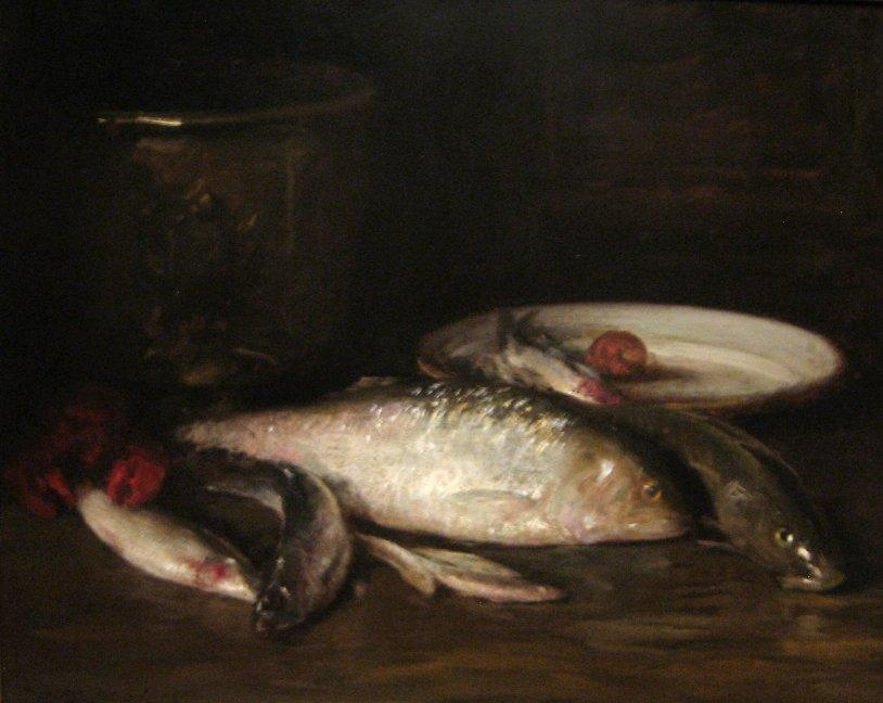 Still-Life with Fish by William Merritt Chase (1849-1916, United States)