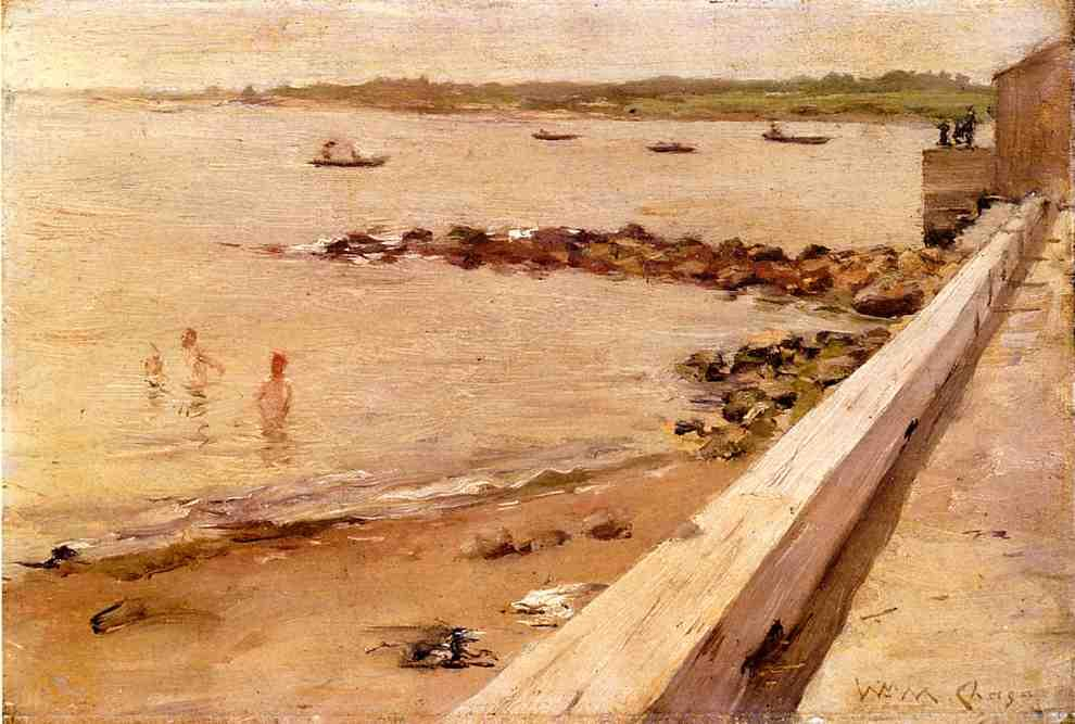 The Bathers by William Merritt Chase (1849-1916, United States)
