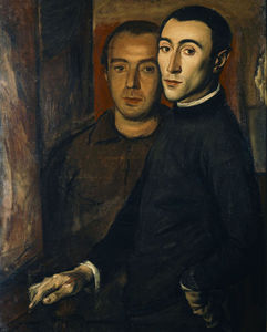 Yiannis Moralis - Self portrait with Nikos ..